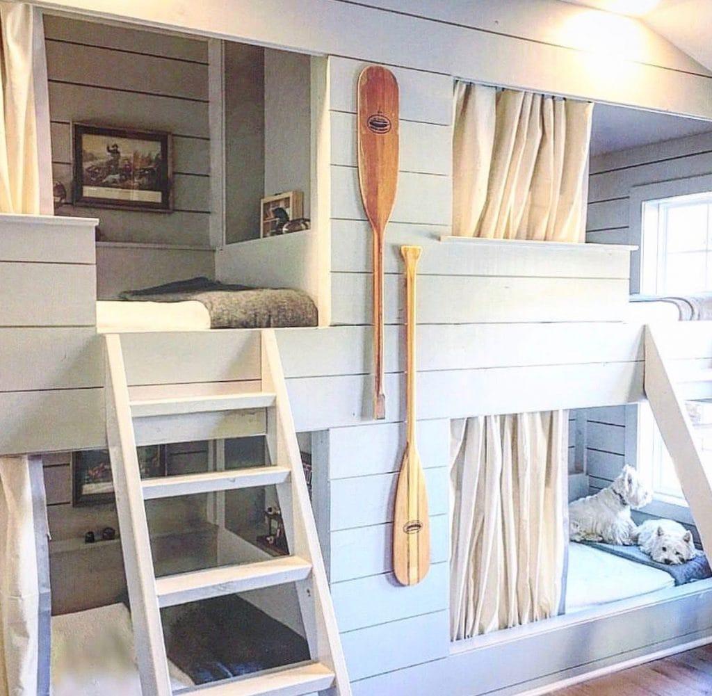 kids teen bunk room modern farmhouse style