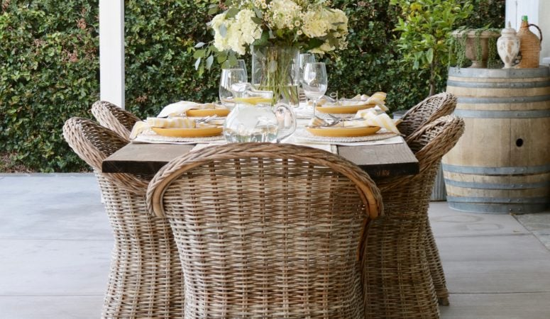 Charming & Cheerful Summer Table Setting