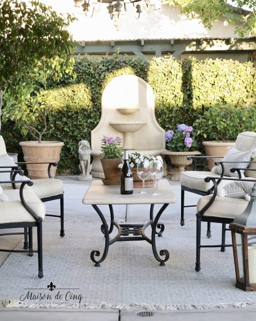 gorgeous European French patio decor beautiful summer decor