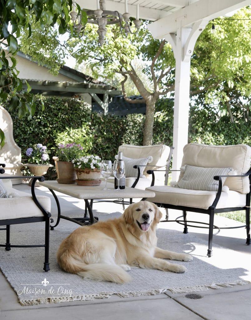 gorgeous European French style patio decor iron furniture outdoor rug patio decor