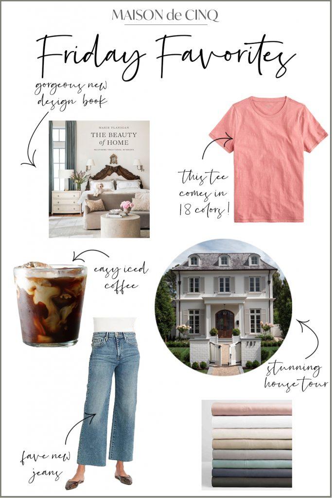 Friday Favorites graphic Maison de Cinq