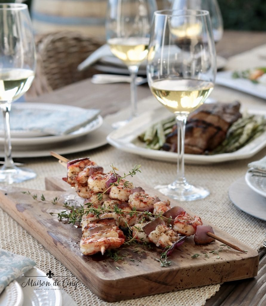 shrimp appetizer on board summer grilling recipe ideas