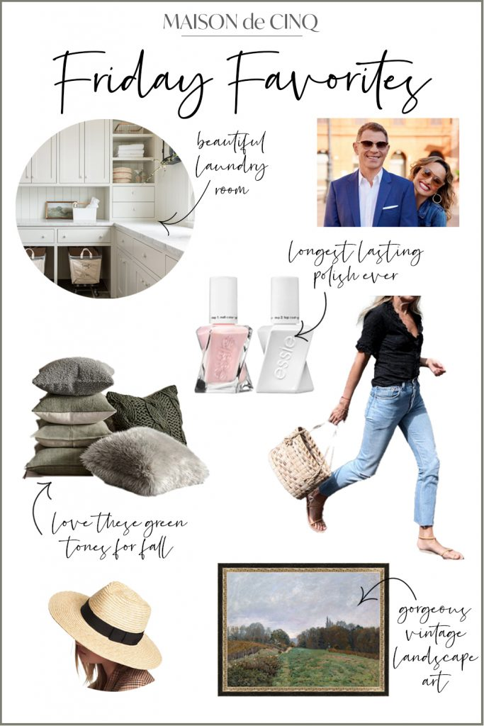 Friday Favorites: Weekly Inspiration graphic on Maison de Cinq