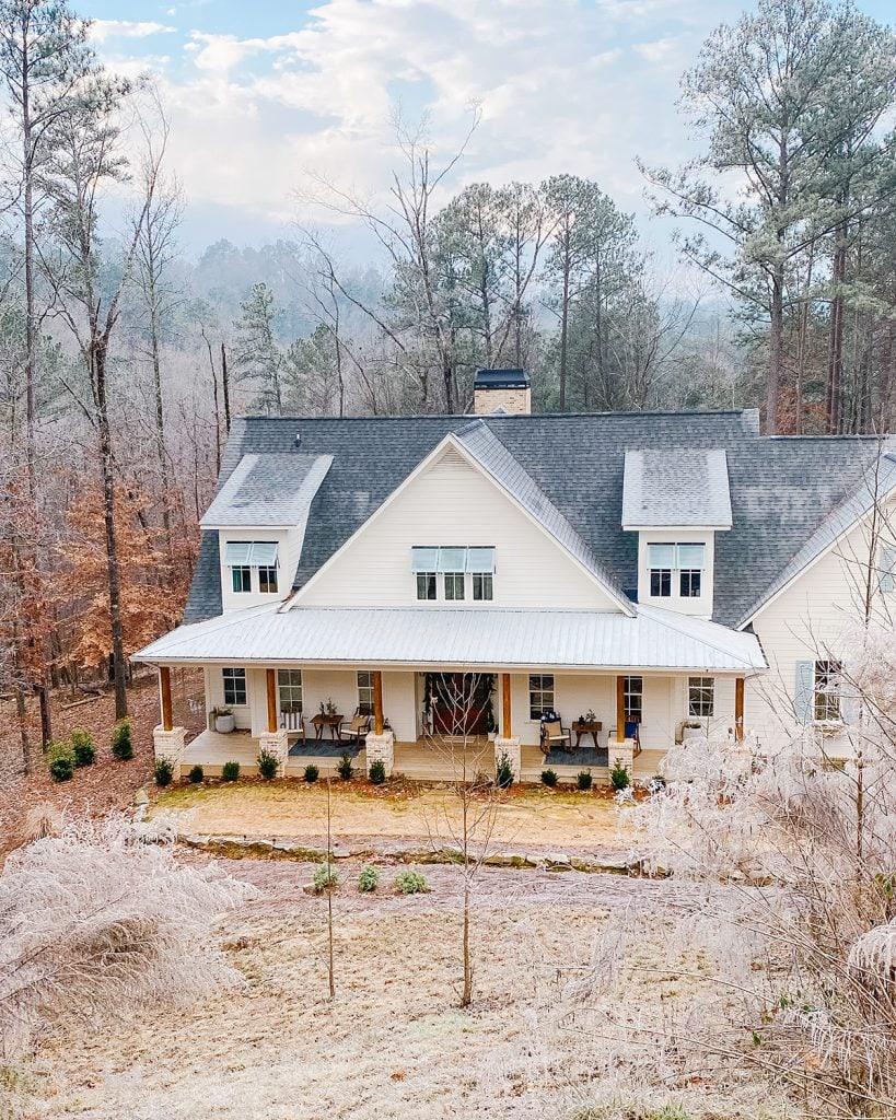 modern farmhouse style exterior home