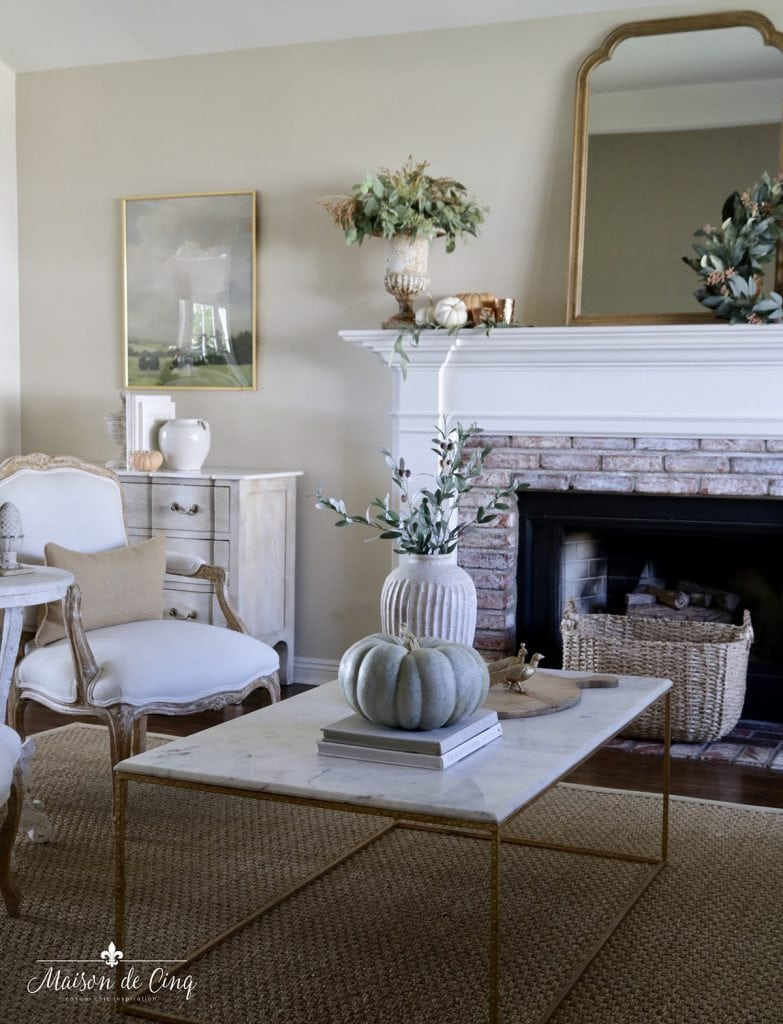 French country muted fall palette decorating ideas autumn decor