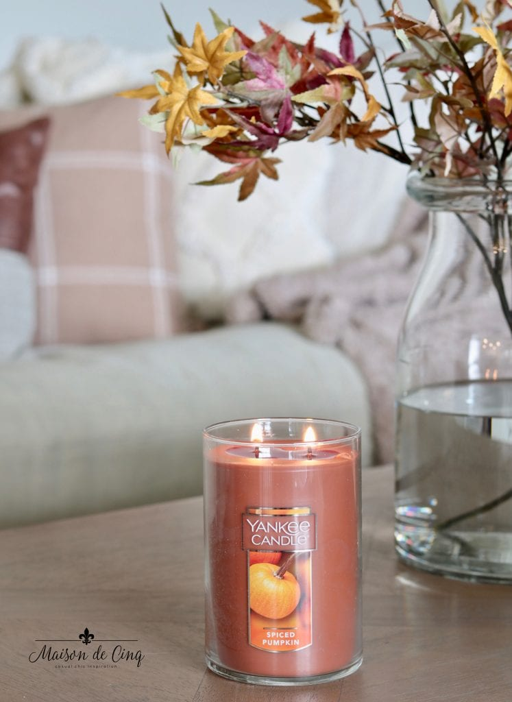 yankee candle spiced pumpkin fall candle fall decorating ideas