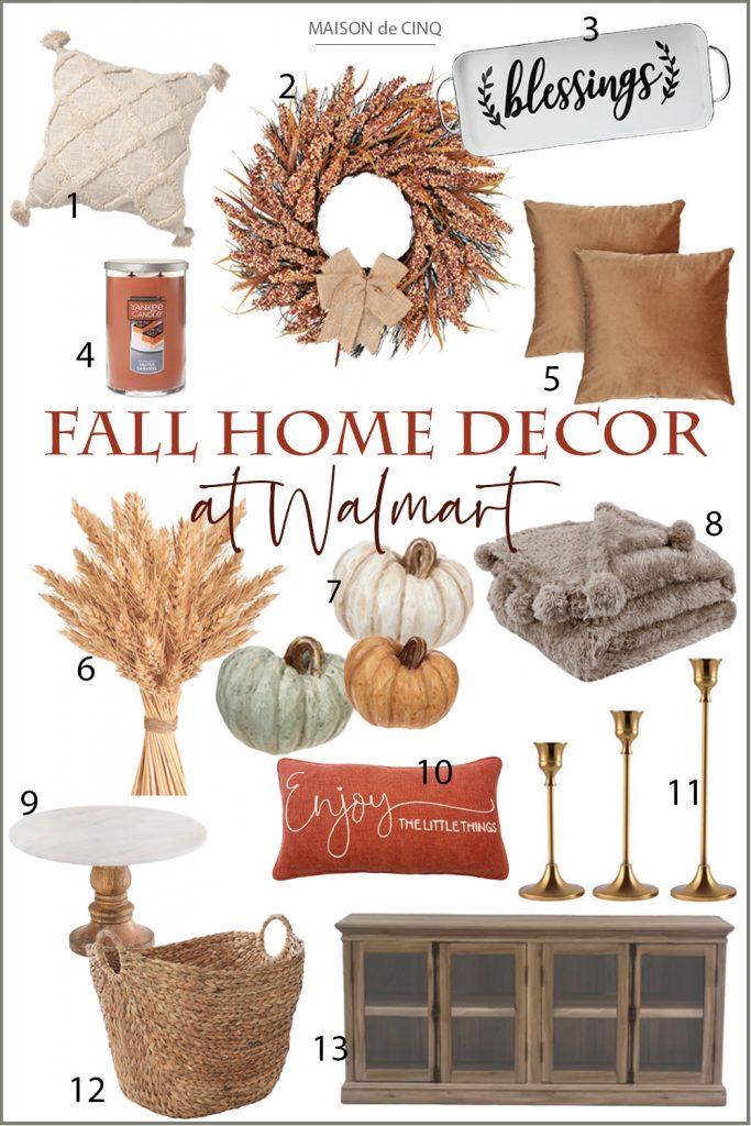 Fabulous Seasonal Finds at Walmart graphic Maison de Cinq